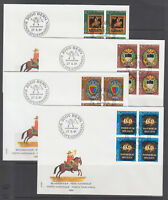 Switzerland Sc B479/B676 FDC Collection, 151 diff, all blocks, 1981-2003 issues