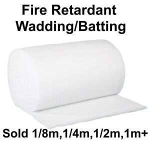 Polyester Wadding/Batting for Quilting, Upholstery 2/4/6/8oz - Various Lengths
