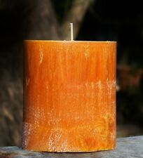 80hr PASSIONFRUIT & GUAVA Triple Scented Natural PILLAR CANDLE Fruity Fragrance