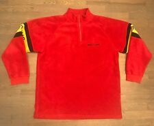 Breitling Men's Red Fleece 1/4 Zip Sweater Men's Size Extra Large XL