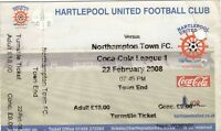 Ticket - Hartlepool United v Northampton Town 22.02.08