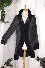 M.P. by STYLE Berlin LAGENLOOK Long - Jacke Gr. 1 40 42 44 Langarm Karo