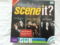 The Twilight Saga Deluxe Scene It? TV Show Trivia DVD Board Game - VGC COMPLETE