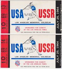 1964 USA vs USSR ticket stubs Dual Track Meet Los Angeles Coliseum LA Times (2)