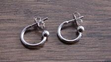 Sterling Silver Hoop Earring Finding - Add a Bead - DB2D Sold in Pair