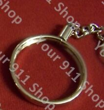 "Silver Platd Key Chain Holder for 1""5/8 Challenge Prayer Coin(coin not included)"