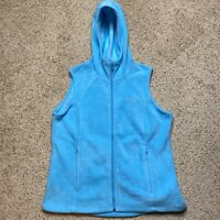 Columbia Benton Springs Fleece Vest Womens Size XL Extra Large Baby Blue