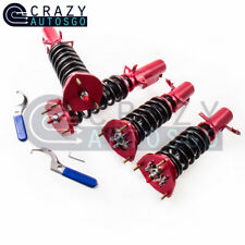 Racing Coilovers 24-Step Adjustable for Toyota Corolla E90- E110 AE92-88-99 Red