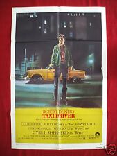 TAXI DRIVER *1976 ORIGINAL MOVIE POSTER 1SH MARTIN SCORSESE ROBERT DENIRO UNUSED
