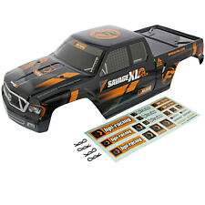 HPI 1/8 Savage XL Flux * GT-5 GIGANTE BLACK BODY, DECALS & CLIPS * Shell Cover