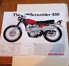 1968 HONDA SCRAMBLER MOTORCYCLE SPEC FLYER
