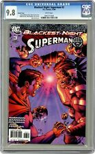 Blackest Night Superman #3B Davis 1:25 Variant CGC 9.8 2009 0947171009