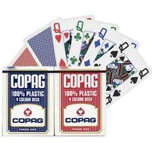 Copag 4 Color, 100% Plastik Poker Spielkarten
