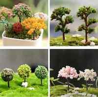 Miniature Sakura Tree Plants Fairy Garden Accessory Dollhouse Ornament Decor