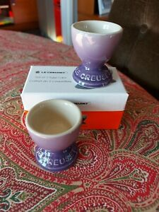 2 x LE CREUSET Egg Cups  * Ultra Violet *  *NEW *