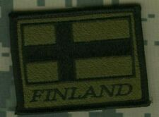 DESERT STORM GULF WAR TROPHY SSI SLEEVE INSIGNIA: FINLAND These Color Won't Run