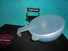 VINTAGE TUPPERWARE LARGE BLUE FORGET ME NOT HANGING STORAGE CONTAINER # 4201