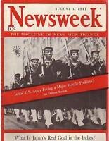 1941 Newsweek August 4-Indo-China surrenders to Japan