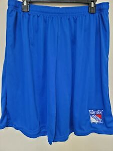0724 Mens NHL NEW YORK RANGERS Polyester Jersey SHORTS Embroidered W/POCKETS New