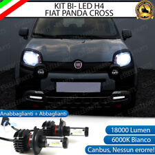 KIT LED H4 FIAT PANDA CROSS 6000K CANBUS 18000 LUMEN REALI LUXEON ZES BI-LED