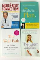 Lot of 4 Wellness, Weigh Loss, Diet, Dental Hygiene Books (Hardcover, Paperback)