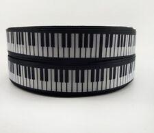 """1 M Piano/Clavier/musique/pianiste Ruban 7/8"""" 22 mm pour Artisanat et gâteaux"""