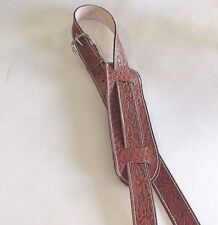 CUSTOM LEATHER GUITAR STRAP WESTERN