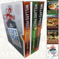 Willard Price Tiger Adventure 3 Books Collection With journal Gift Wrapped Slipc