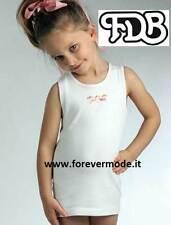 3 Canotte bambina FDB spalla larga in caldo cotone felpato con stampa art 308S
