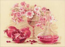 RIOLIS  1618  Pink Pomegranate  Broderie  Point de croix  Compté