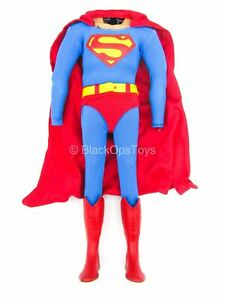 1/6 Scale Toy Superman - Blue & Red Full Body Uniform w/Cape & Boots