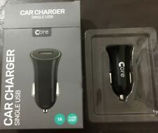 Core SINGLE USB In-Car Charger - Black RoHS and CE Approved