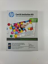 HP Printable Invitation Card and Invitation Kit 25 Cards and Envelopes 5 x 7