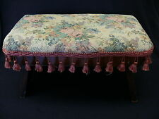 Beautiful Antique Upholstered Foot Stool