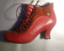 Hush PuppiesVivianna Steampunk Victorian Style RED Ankle Boots UK 4 EUR 37