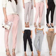 Fashion Summer Womens Chiffon Harem Pants OL Loose Elastic Casual Long Trousers