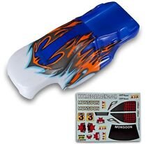 Redcat Racing 94086 Monsoon Body White and Blue    94086