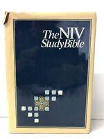 NIV STUDY BIBLE ZONDERVAN 1985 NEW INTERNATIONAL VERSION HARDBACK COVER