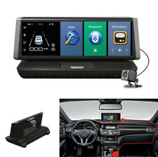 "8"" Touch Screen Car DVR Dual Lens Video Recorder Bluetooth Monitor ROM 16GB GPS"