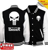 The Punisher fashion sweatshirt novelty skull baseball jacket new Spring Autumn
