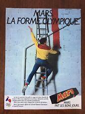 Pubblicità Advertising MARS La Forme Olympique Anni 80