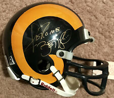 Jerome Bettis L.A. Rams Autograph Auto Mini Helmet w/ rare Gold Ink QA Authentic