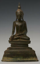 17th Century, Shan, Antique Burmese Bronze Seated Buddha