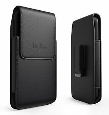 Apple iPhone 7 Plus/6 S Plus Belt Clip Vertical Case Leather Holder Pouch Black