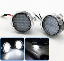2x White LED Side Rear View Mirror Puddle Lights For Ford 09-14 F150 & Raptor