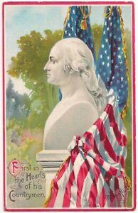 Postcard George Washington, Artist Signed Veenfliet, Meriden CT, Johnstown NY