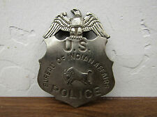 Copper/Silver Law Star Badge US Bureau Of Indian Affairs Police Vtg-look Patina