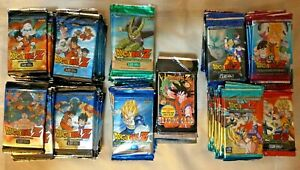 Dragon Ball Z (185 lot) Movie Vengeance Perfection + 1996 Series 1 Booster Packs