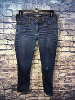 Lucky Brand Vtg Charlie Skinny Blue Jeans Size 0/25🔥Rare Style👀Free Shipping✅