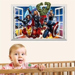 Avengers Superhero 3D Bedroom Wall Decoration Stickers